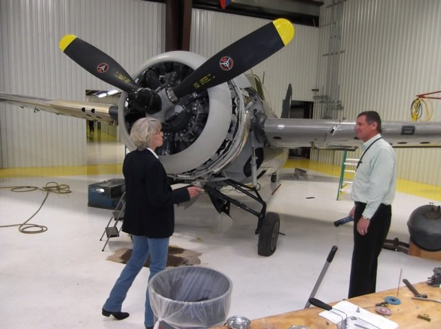 Hellcat with an R-1820 radial engine