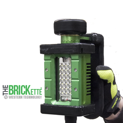 The BRICKette™, 2106, LED, BRICKette, KICK-IT TOUGH™ LED Safety Lights, Portable Explosion Proof LED Work Light, Explosion Proof, Western Technology, Hazardous Location Lighting, C1D1, C2D2, Aircraft Manufacturing, blast & paint lighting, string lights, drop lights, refineries, oil & gas, petro-chemical