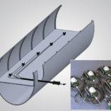 The BRICKette™ Medusa Configuration, The BRICKette™, Portable Explosion Proof LED Work Light, Stringer Configuration, stringer light, string lights, dome diffuser, drop lights, 2106 LED