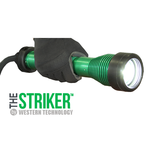 The STRIKER™, 8100, LED, Hand-held, Explosion Proof, Drop Light, hazardous location lighting, portable LED work light, C1D1, C2D2, temporary led lighting, explosion proof, blast light, work light, drop light