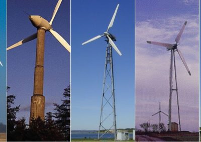 Examples of Different Windmills and Wind Turbines
