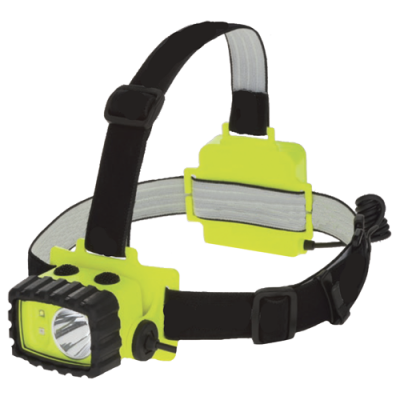Model 7704 LED Intrinsically Safe Headlamp, LED intrinsically safe headlamp, Floodlights, Hazardous Location Lighting, headlamps, Portable LED Lights, Portable Lighting, Spotlights, Temporary Job Site Lighting, Battery Powered, hazardous location lighting, hard had light