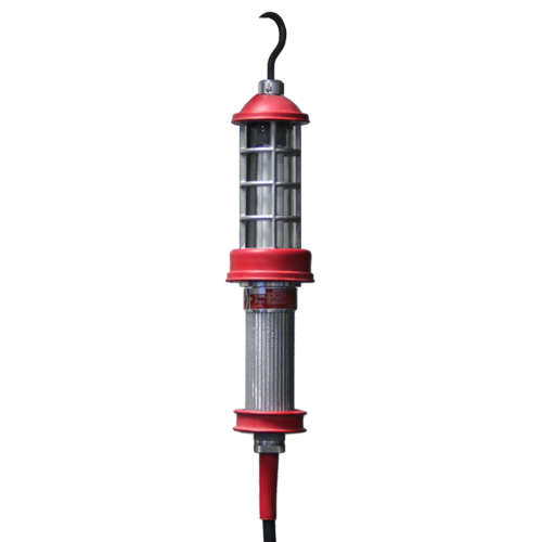 Model 7600, Fluorescent Explosion Proof Work Light, Drop Lights, Fluorescent Lights, Hazardous Location Lighting, Hook Mounting, Inspection, Portable Lighting, String Lights, Temporary Job Site Lighting, Work Lights, paint application, Fluorescent Explosion Proof Hand Lamp, hazardous location, fluorescent, 26W