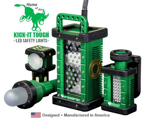 KICK-IT TOUGH™, LED Safety Lights, certified lighting, explosion proof, led, portable, LVLE,