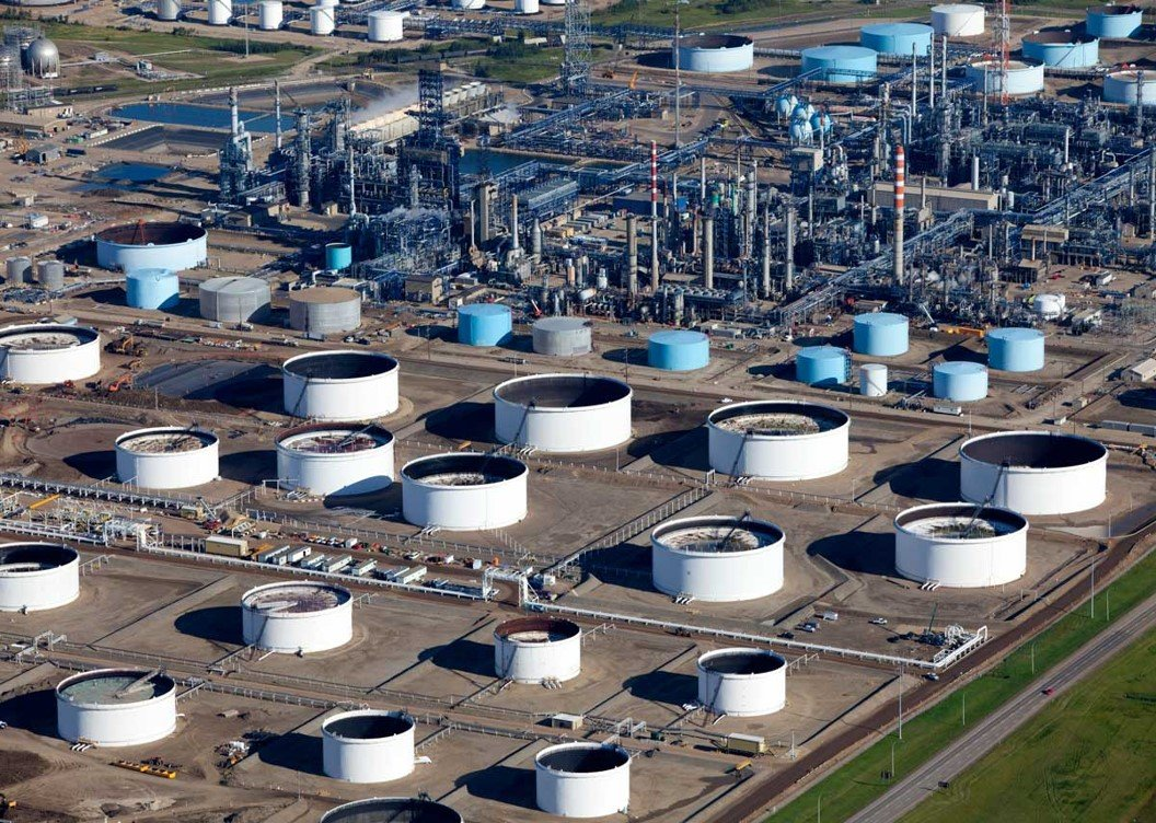 Storage Tanks at a Refinery