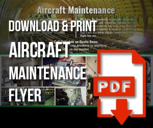 aircraft, maintenance, flyer, pdf, download, western technology, print