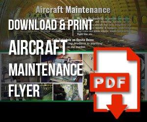 aircraft, maintenance, flyer, pdf, download, western technology, print