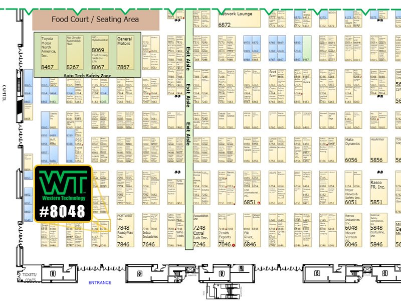 2017 NSC Congress & Expo, floor plans, exhibit, #8048, Western Technology, national safety council, floor map