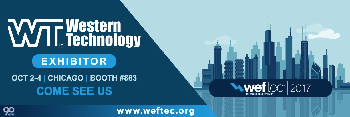 WEFTEC 2017, exhibitor, booth #863, chicago, water quality event, expo, conference, Western Technology