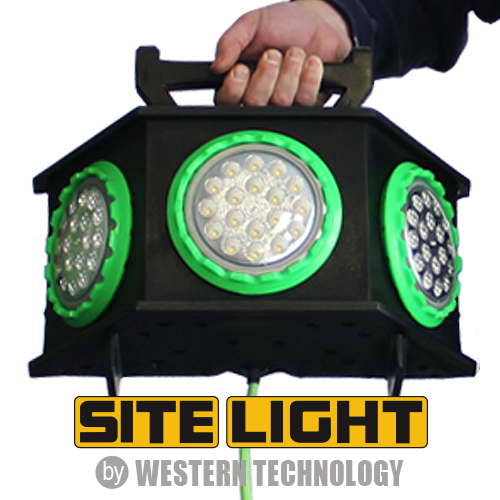 SITE LIGHT in Hand w/ Logo