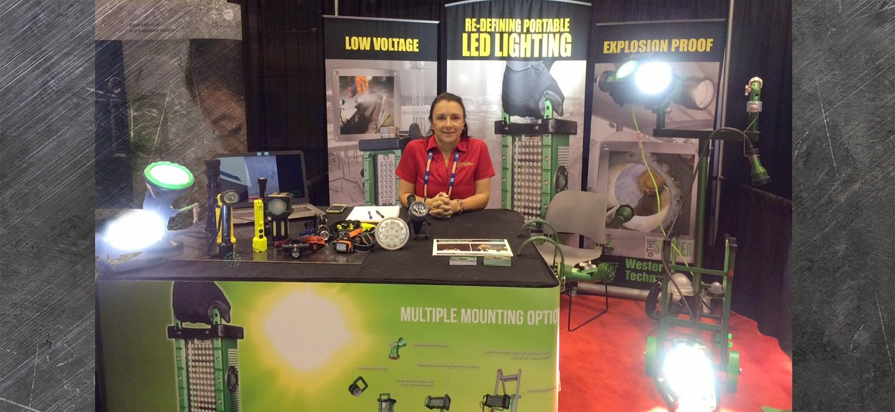 trade shows, expos & conferences, 2018, booth, portable work lights, western technology