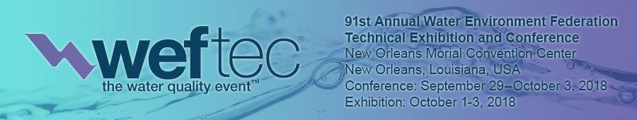 WEFTEC, weftec, 2018, trade shows, expos & conferences,