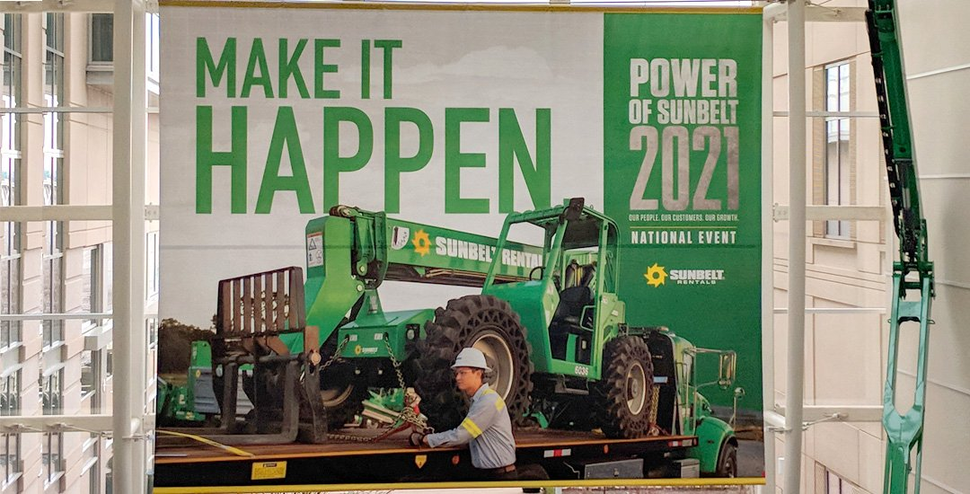 sunbelt rentals, national sales event, make it happen, power of sunbelt, 2021, national event, 2018, Washington, DC, national event