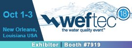weftec, 2018, exhibitor, booth #7919, New Orleans, LA, the water quality event, Western Technology